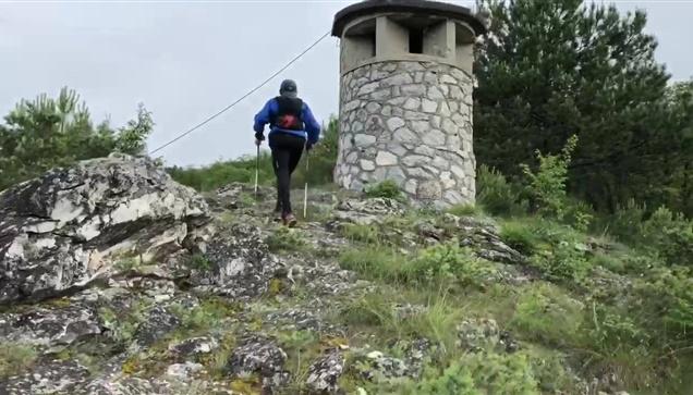 Η είσοδος του πρώτου αθλητή των Frozen Peak 265 km Έλληνα Γιώργου...