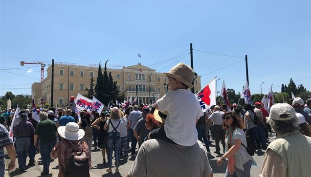 Εικόνες από το Συλλαλητήριο των ΓΣΕΕ ΑΔΕΔΥ και τη Συγκέντρωση...