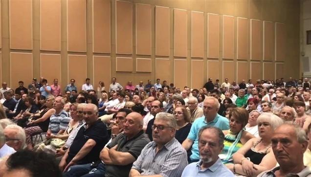 Ο Βασίλης Μωυσίδης, Υποψήφιος Δήμαρχος Θεσσαλονίκης, κατά την επίσημη ανακοίνωση...