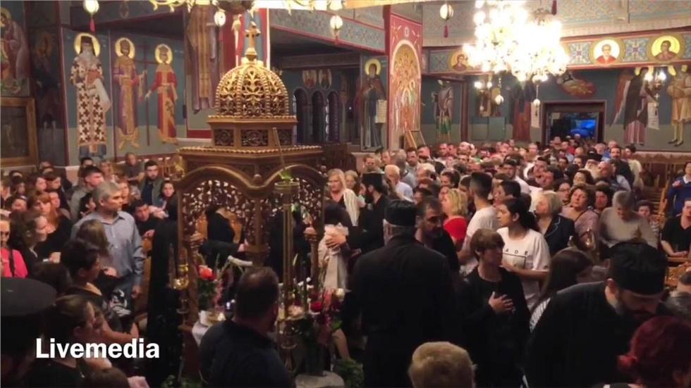 Ήταν η τελευταία μέρα για τον Τίμιο Σταυρό του Ιερού Ναού των Αγίων Ισιδώρων Λυκ...