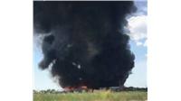 Μεγάλη φωτιά στα ανακυκλώσιμα υλικά της επιχείρησης