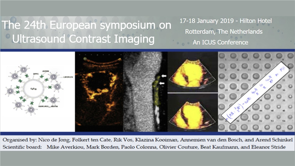 Congresses | The 24th European symposium on Ultrasound Contrast Imaging