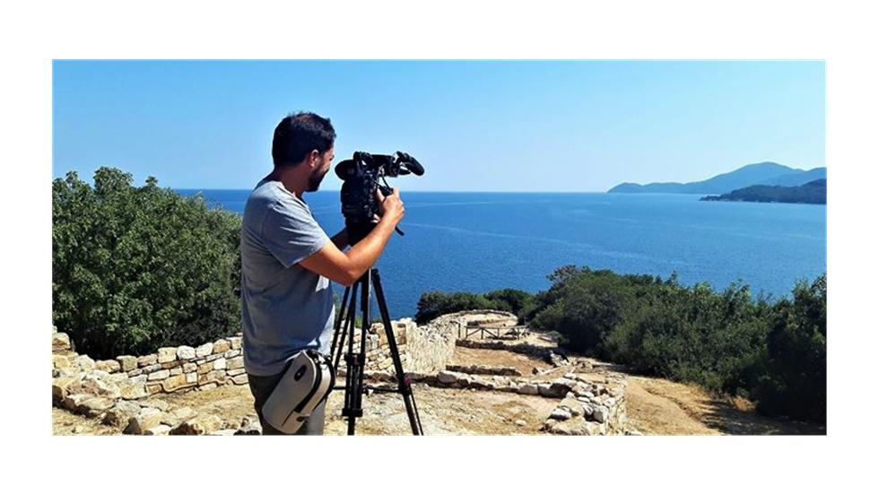«Το έργο του Αριστοτέλη» στη γαλλική τηλεόραση  Λήψεις πλάνων...