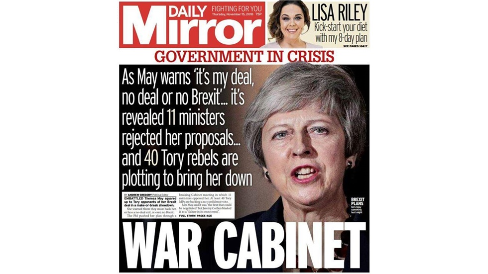 British press reaction on the withdrawal agreement