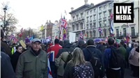Brexit Betrayal protest in Central London led by UKIP and T....