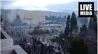 Πεδίο μάχης η πλατεία Συντάγματος