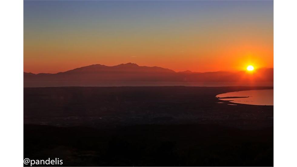 Ηλιοβασίλεμα στην Μακεδονία!   #thessaloniki  Η πανοραμική θέα...