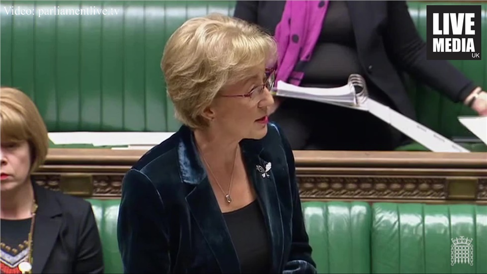 Leader of the House of Commons Andrea Leadsom MP announced that...