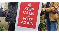 Some of the placards in today's march for a People's Vote.  ...