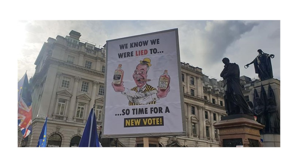 Some of the best placards from today's march for a People's Vote....