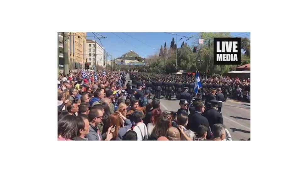 Live: Ζάππειο: Στρατιωτική παρέλαση Αθήνα 25η Μαρτίου 2019