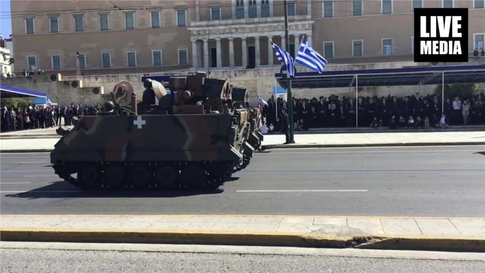 Η παρέλαση των οχημάτων του Στρατού και των Σωμάτων Ασφαλείας...