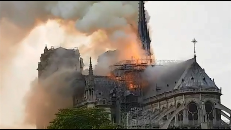 Events | Notre-Dame cathedral in Paris on fire