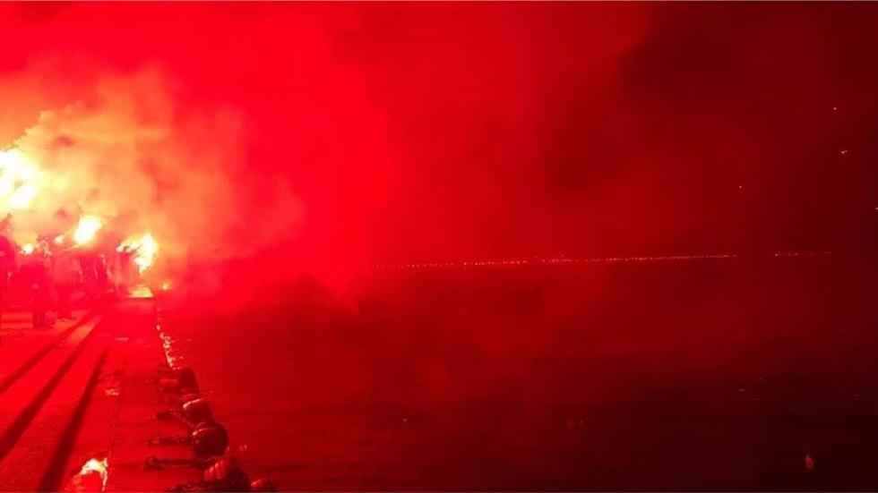 Οι ξέφρενοι πανηγυρισμοί στην παραλία Θεσσαλονίκης για το πρωτάθλημα...