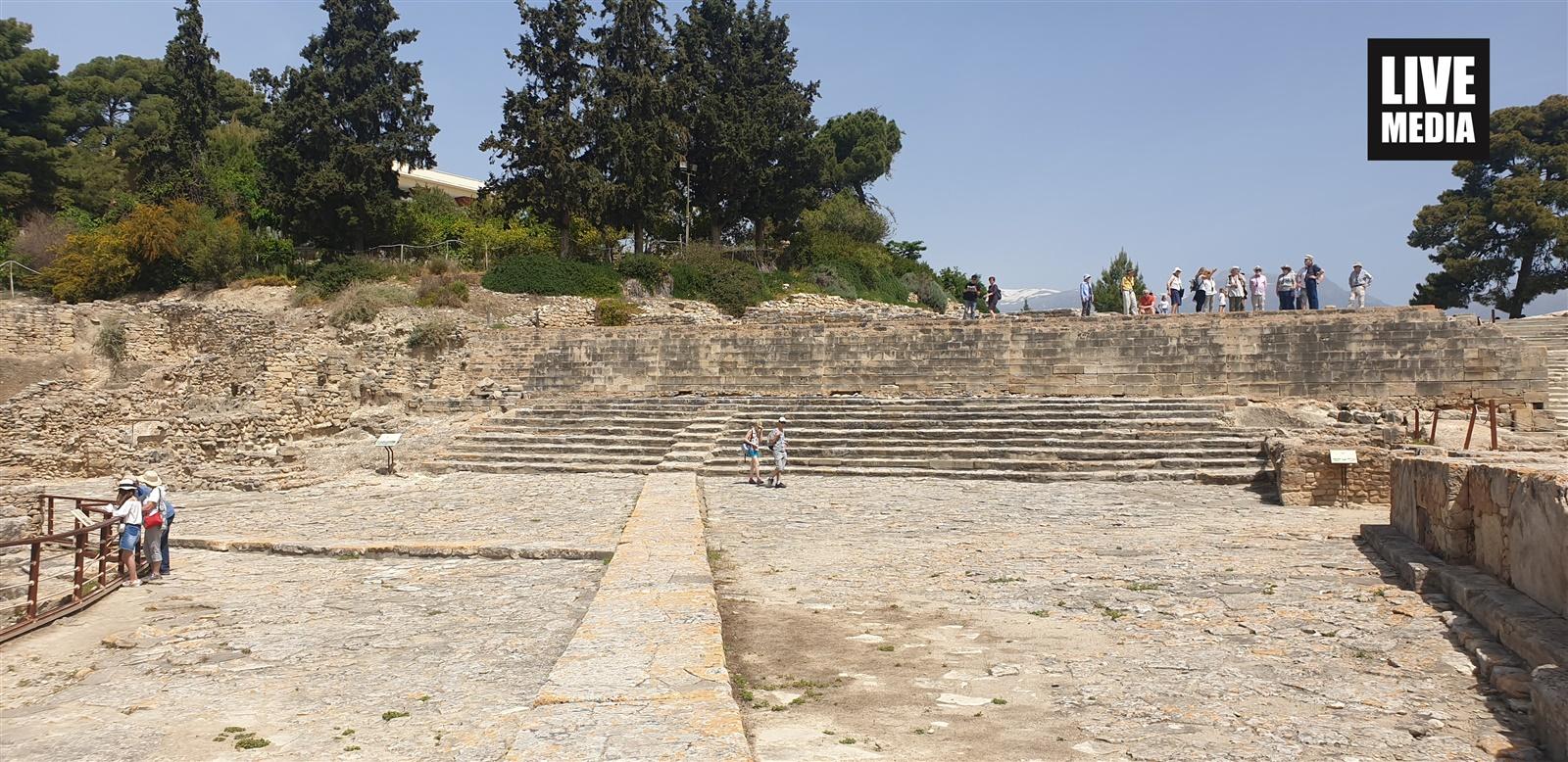 Το αρχαίο θέατρο της Φαιστού