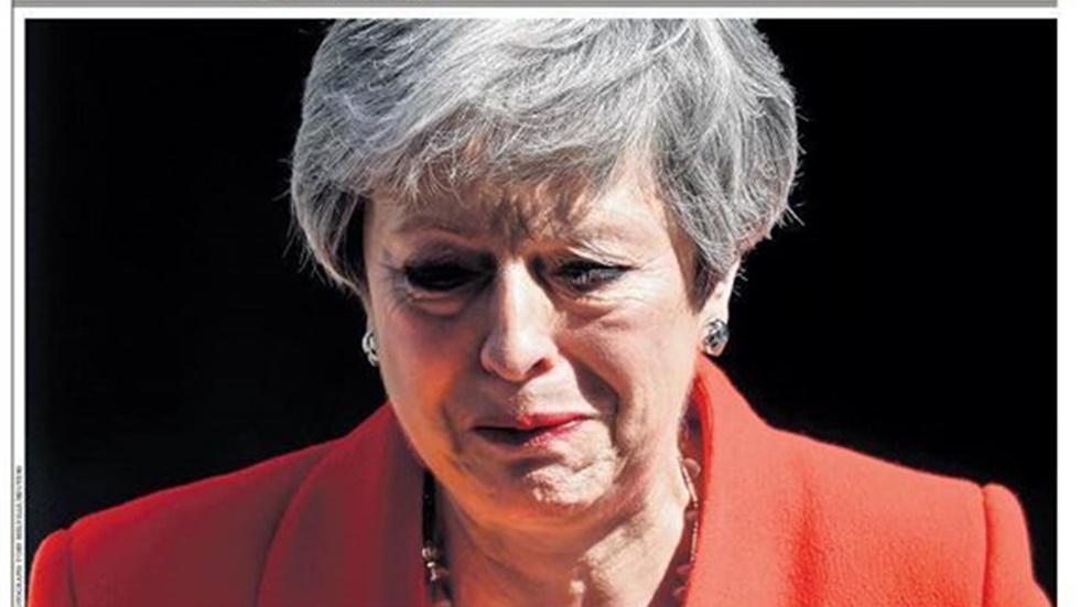 Τα πρωτοσέλιδα του βρετανικού τύπου, μία ημέρα μετά την παραίτηση της Τερέζα Μέι