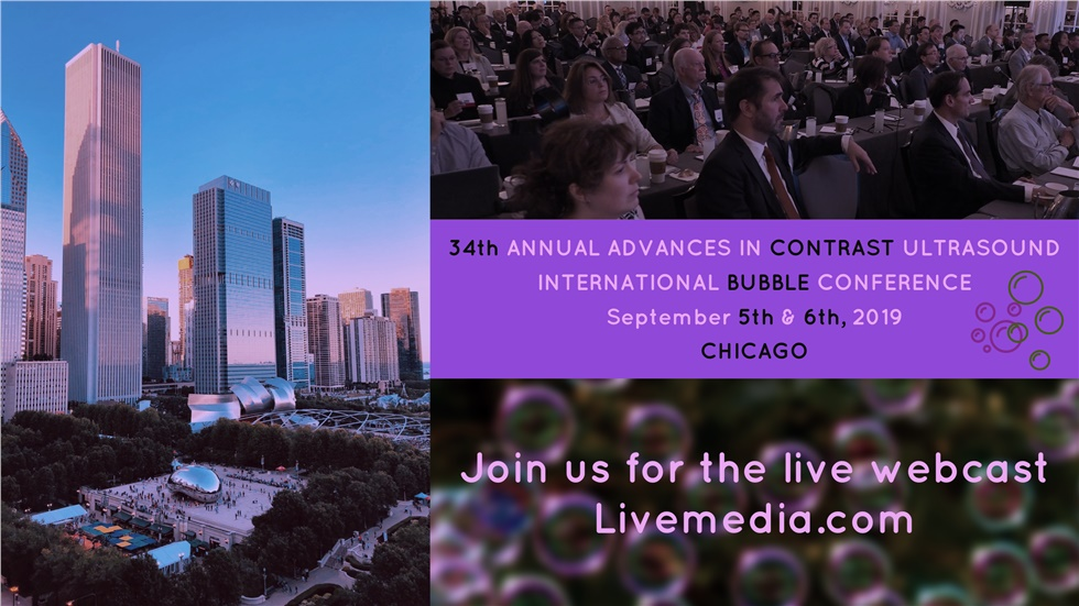 Congresses | 34th Advances on Contrast Ultrasound - The Bubble Conference