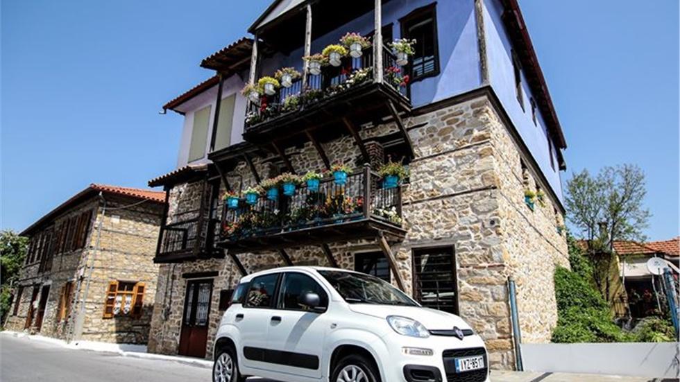Με  Fiat Panda CNG στην Αρναία της Χαλκιδικής Κάτω από το Όρος...