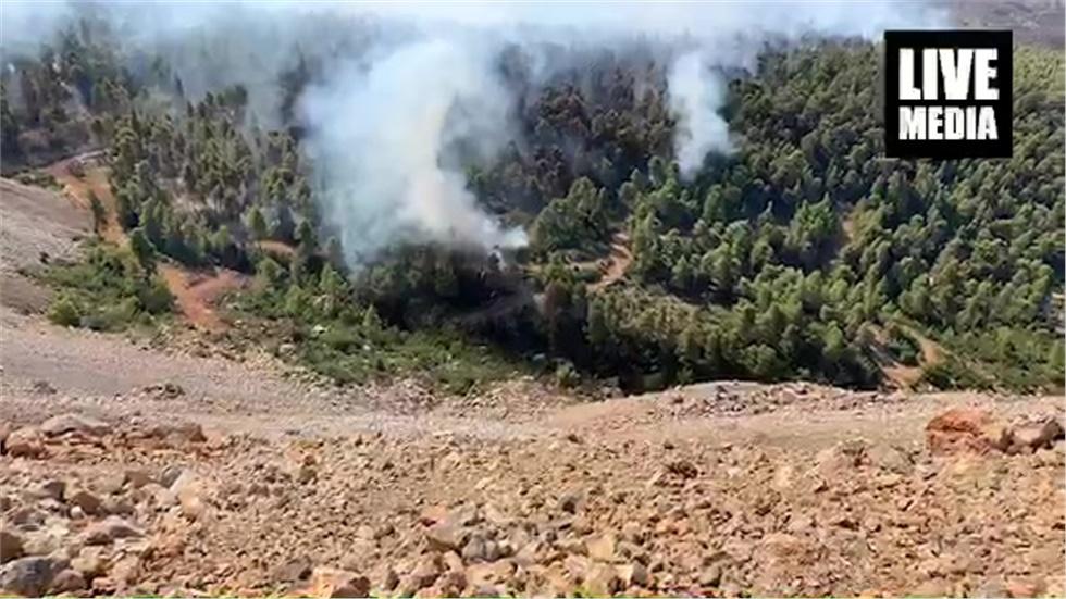 Μεχρι το λατομείο της ΛΑΡΚΟ έφτασε η φωτιά που έχει ξεσπάσει...