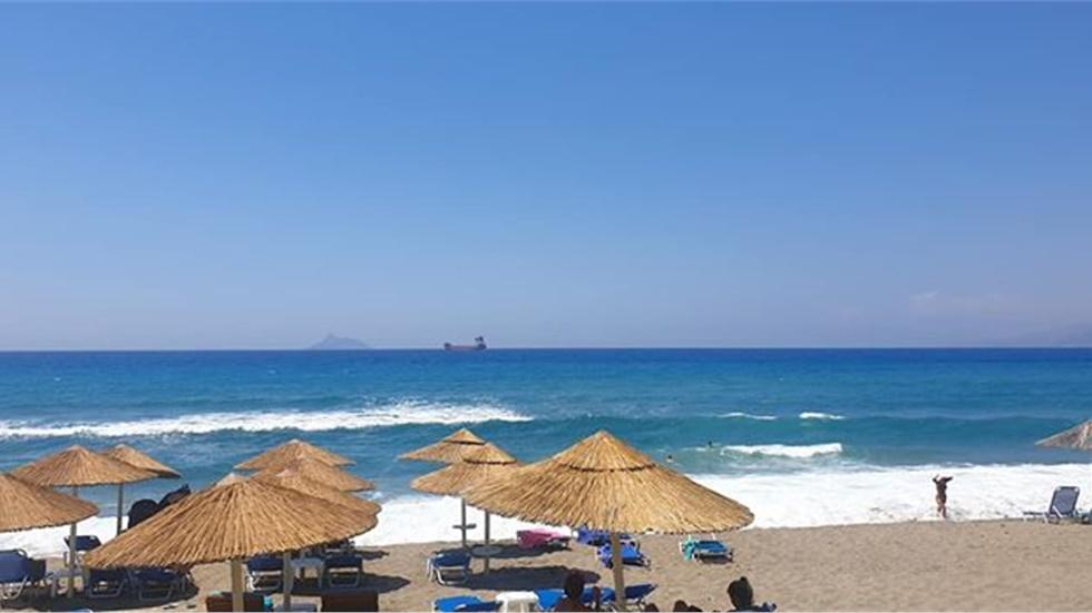 Kalamaki beach in South Crete!  #kalamaki #crete #summer #b...