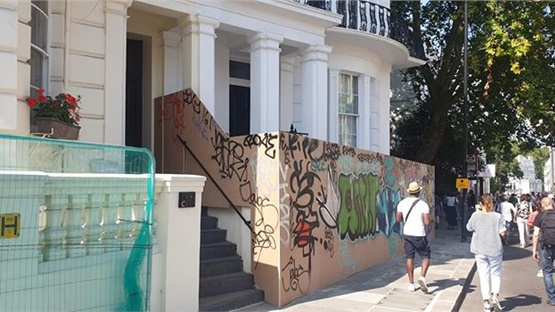Notting Hill Carnival - Dozens of homes have been boarded up...