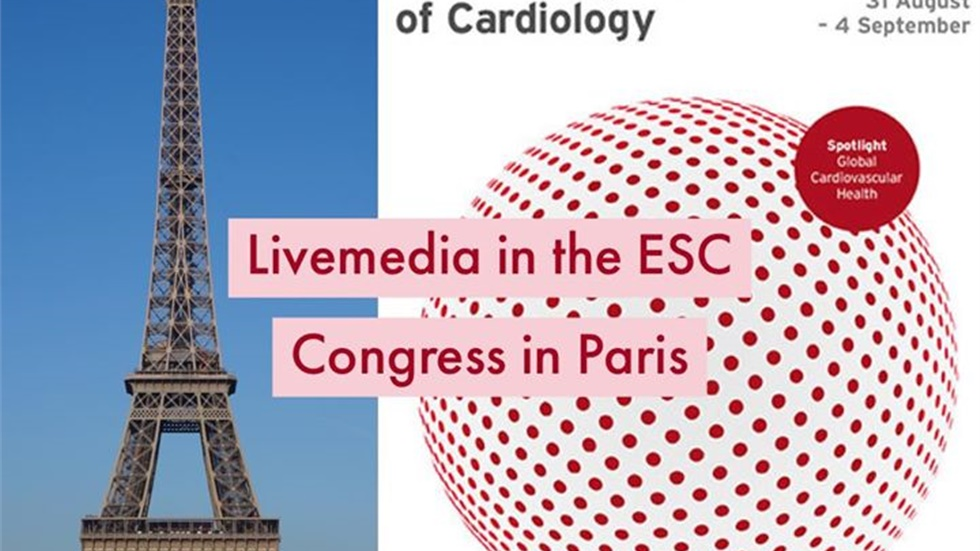 Livemedia will be present at the European Society's Cardiology...