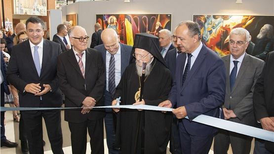 Ο Οικουμενικός Πατριάρχης κ.κ. Βαρθολομαίος εγκαινίασε  την εικαστική...