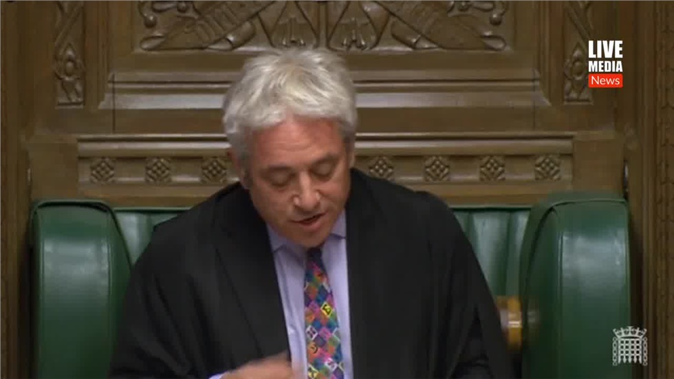 House of Commons Speaker John Bercow ruled out a vote on Brexit...
