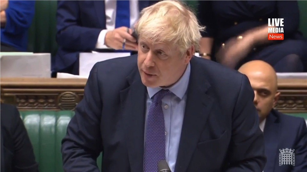 PM Boris Johnson said durin today's PMQs that he will pull the...
