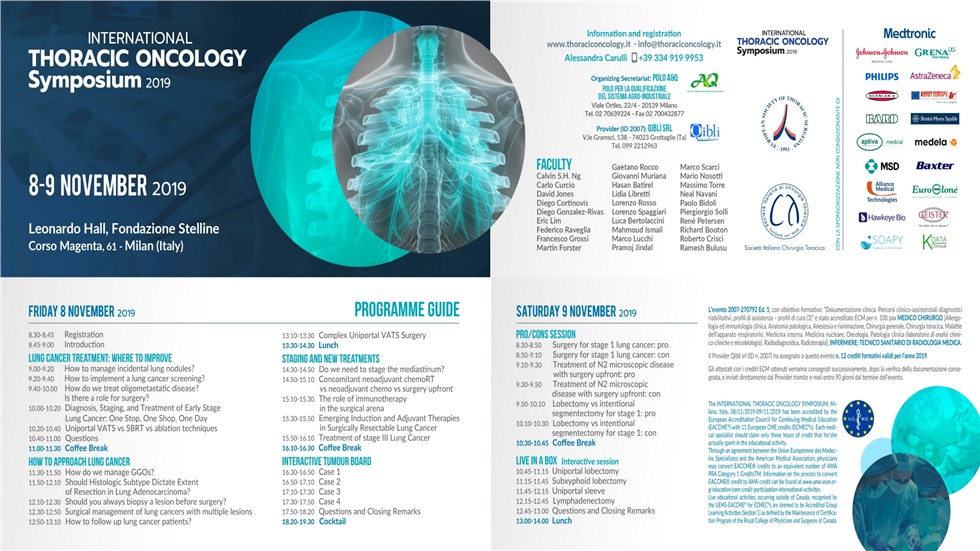 International Thoracic Oncology Symposium 2019