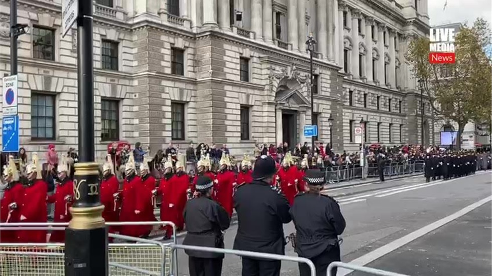 Remembrance Sunday parade in London