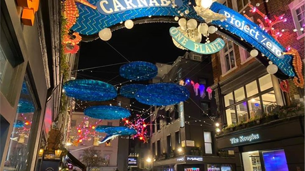 Carnaby Street is ready for Christmas! This year's message is...