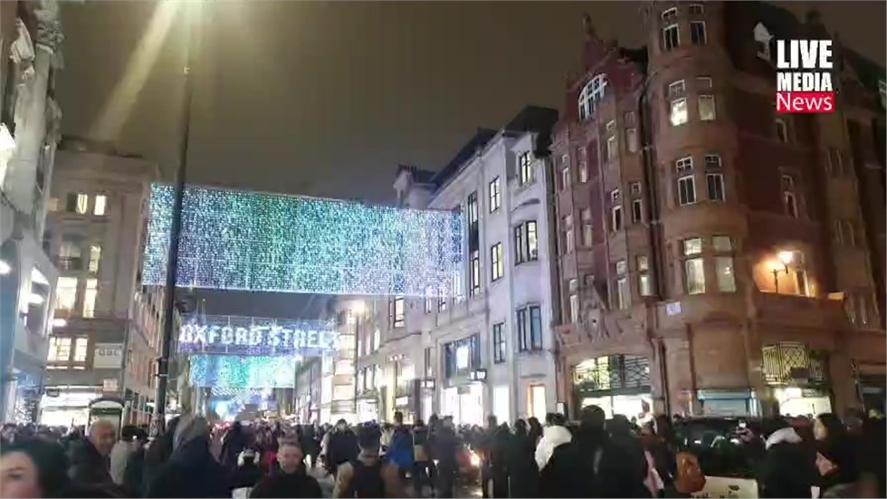 Oxford Street Christmas lights switched on today.  #OxfordStreet...