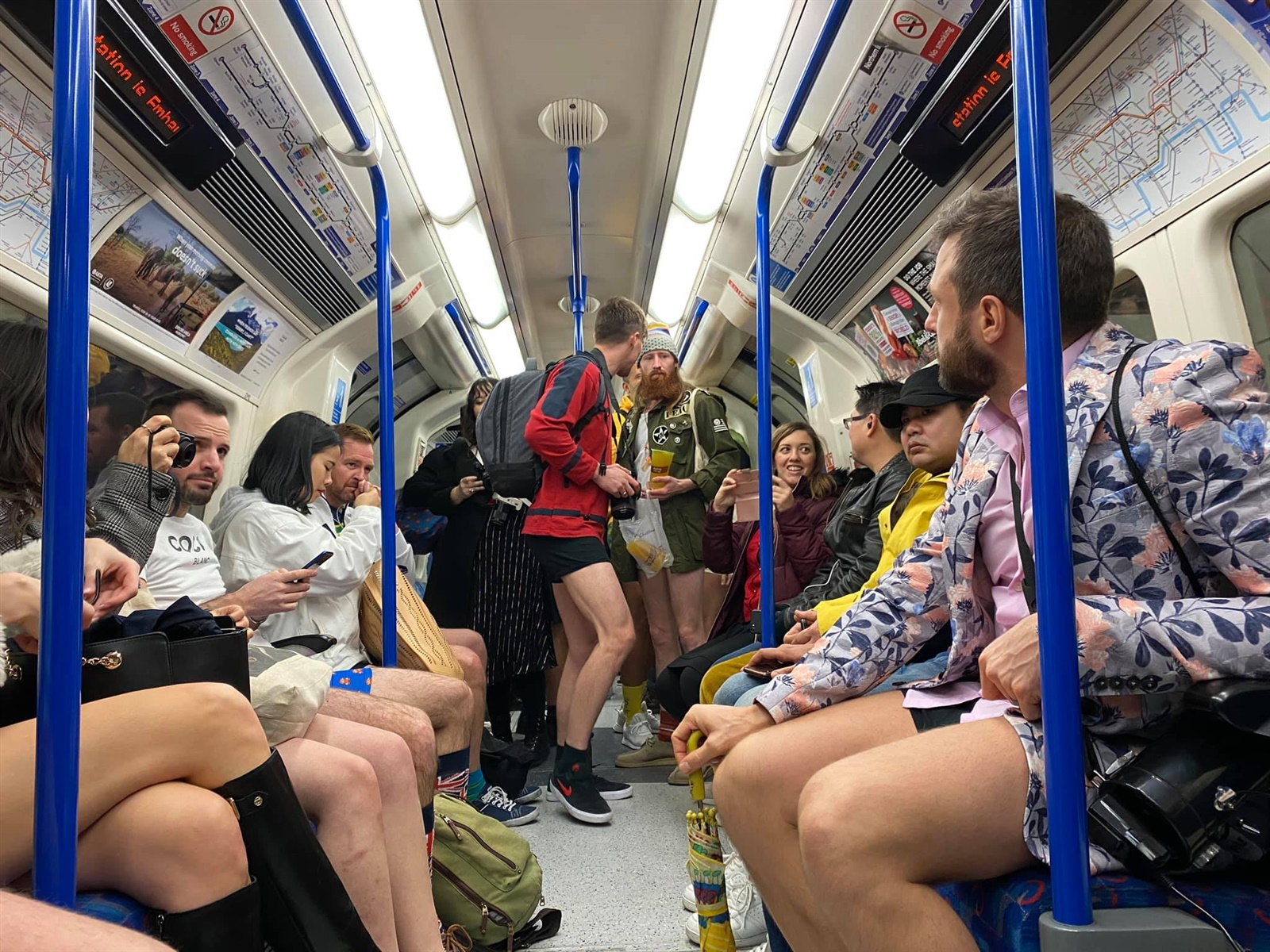 No trousers tube ride 2020