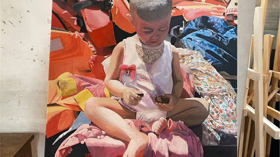 The Hope Project: an exhibition of works painted by refugees...