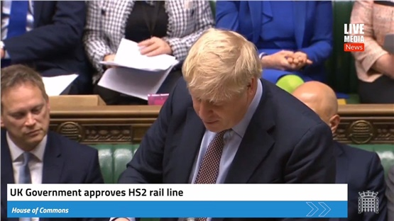 PM Boris Johnson announced today that the high-speed rail line...