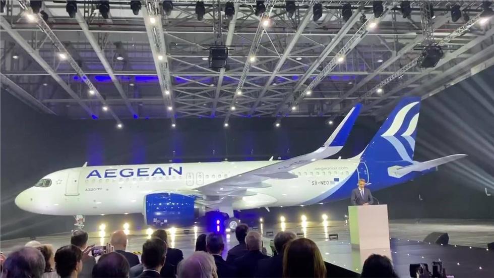 Αυτό είναι το νέο Airbus A320neo της Aegean Airlines - Δείτε...