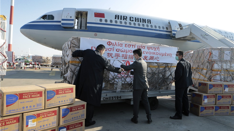 Υγειονομικό υλικό 8 τόνων προς την Ελλάδα έστειλε η Κίνα