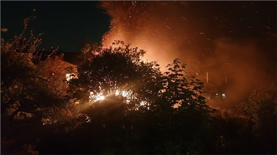 A fire broke out at a house in North London on Tuesday night....