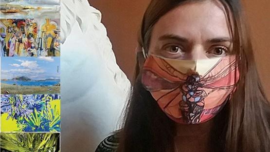Ελβίρα Μεταλληνού: «Η τέχνη νικά την επιδημία COVID-19»  Υφασμάτινες...