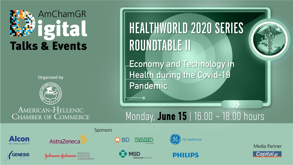 Congresses | Healthworld 2020 Series | 2nd Roundtable Discussion | Economy and Technology in Health during the Covid-19 Pandemic