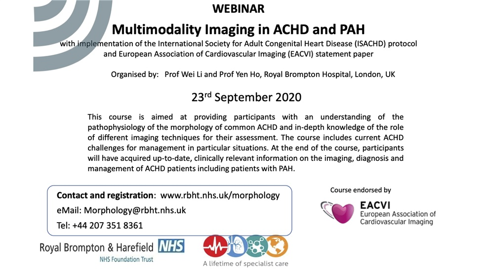 Multimodality Imaging in ACHD and PAH