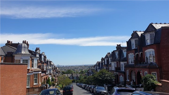 Blue skies over London today!