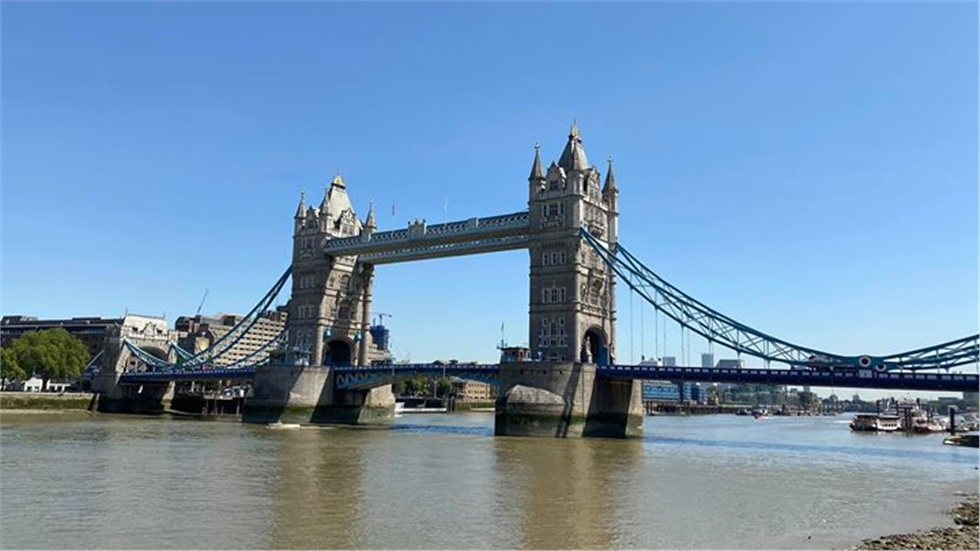 Blue skies over London today, as the UK is expecting the highest...