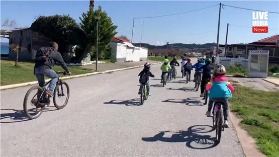 Στην φύση προπονήθηκαν οι μικροί ποδηλάτες της Ιερισσού!
