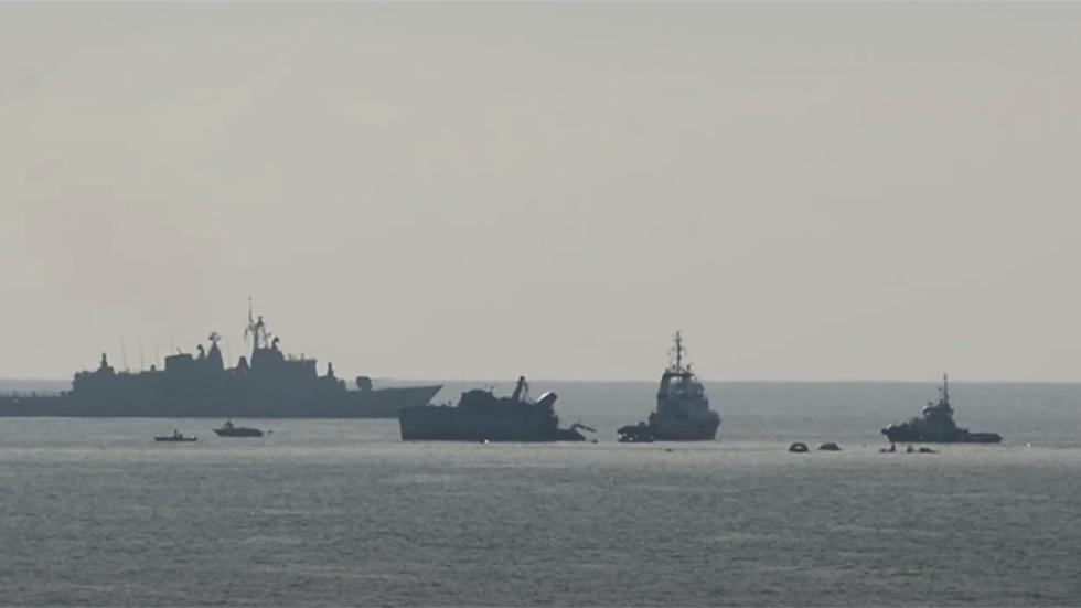 Σύγκρουση φορτηγού πλοίου με το ναρκαθηρευτικό