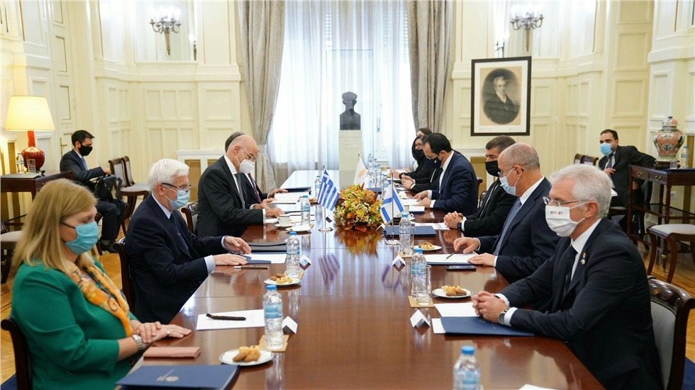 Τριμερής συνάντηση των υπουργών Εξωτερικών Ελλάδας-Κύπρου-Ισραήλ