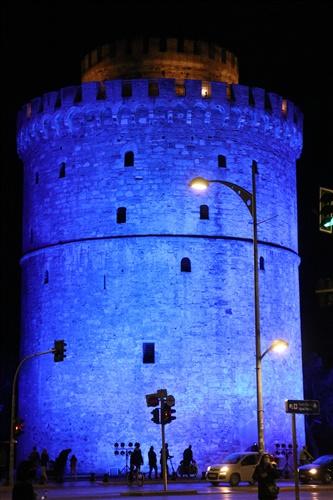 Φωταγώγηση του Λευκού Πύργου για την Παγκόσμια Ημέρα Διαβήτη