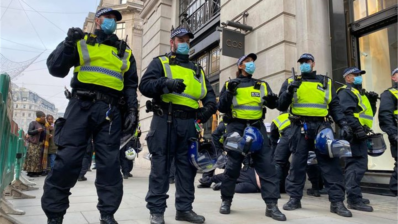 More than 150 arrests during anti-lockdown protest in central...