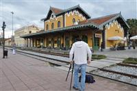 Σιδηροδρομικός σταθμός Βόλου. Γυρίσματα από την εκπομπή Όμορφη Ελλάδα.